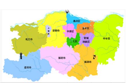 郑州市地图图片