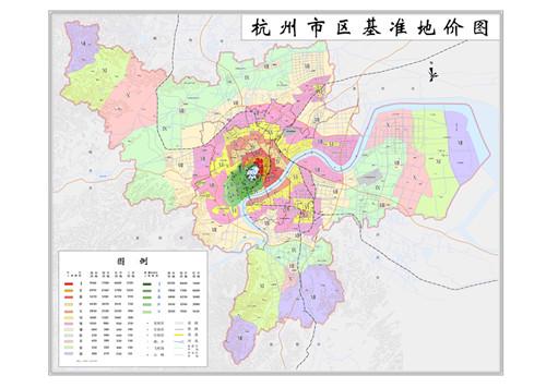 市人民政府第49次常务会议审议通过,现将调整后的《杭州市区土地级别图片