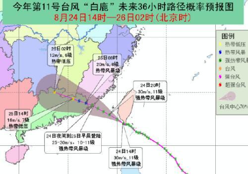 台风白鹿二次登陆福建,路径是怎样?会经过哪些地区?