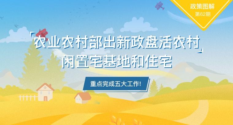 农业农村部出新政盘活农村闲置宅基地和住宅 重点完成五大工作!
