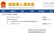 海南省人民政府关于支持产业项目发展规划和用地保障的意见(试行)