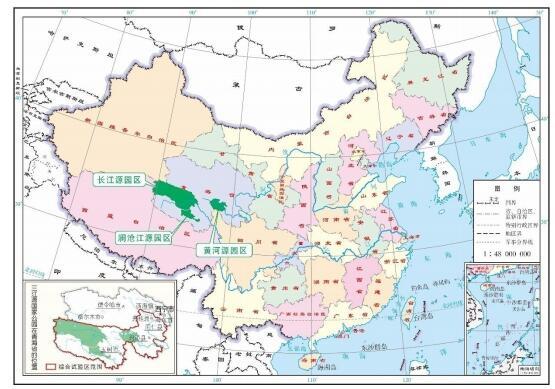 三江源公园地图