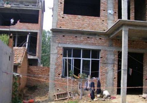 新建的农村宅基地