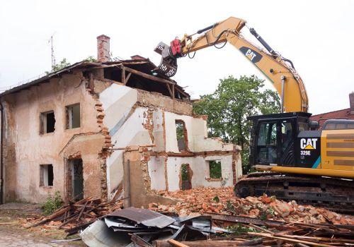 正在拆迁的农村房屋
