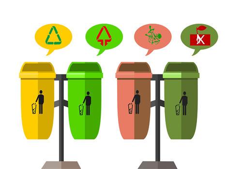 垃圾分类垃圾桶的标志