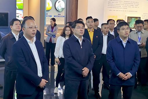 湖南省副省长隋忠诚等领导一行参观考察安化黑茶产业大数据中心