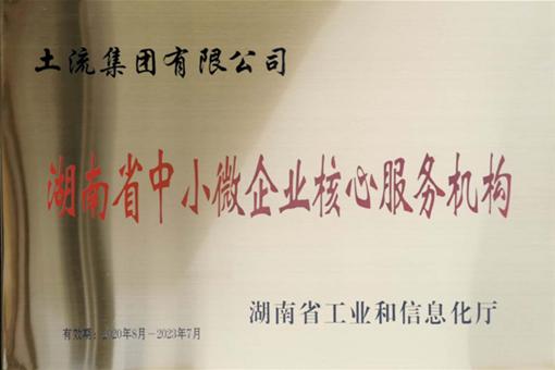 土流集团被认定为湖南省中小微企业核心服务机构
