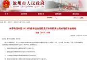 2019年沧州市公租房、廉租房租金标准是多少钱一平米?