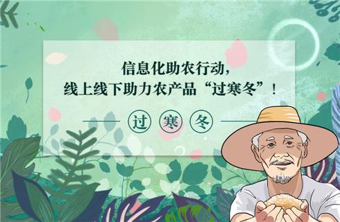 """信息化助農行動,線上線下助力農產品""""過寒冬""""!"""